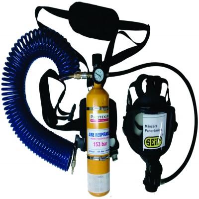 Respirador de Linea con cilindro de Escape
